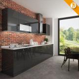 現代速い配達黒の積層物ラインモジュラー食器棚(OP14-K006)