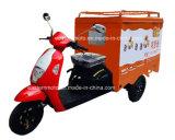 Triciclo eléctrico del cargo para el café, alimento
