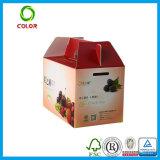 Boîte de empaquetage à fruit sec fait sur commande de ventes en gros, traitement de Woth de carton d'expédition de fruit