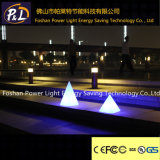 Les lumières de nuit de la lampe DEL de pyramide de décor lumineuses par plastique