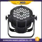Luz RGBWA 18*10W 64 de la IGUALDAD de la etapa del LED