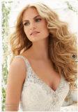 2016年の肩のレースの水晶花嫁のウェディングドレス(2803)