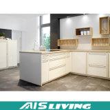 PVC собирает мебель кухонных шкафов кухни (AIS-K215)