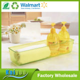 34*15.5*5.5cmのふたのない黄色い透過台所冷却装置オルガナイザー