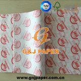 Бумага упаковки хорошего качества напечатанная жиропрочная для цыпленка/гамбургера/сандвича/хота-дога