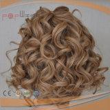 Peluca atada mano superior de seda europea completa del trabajo de Shevy de las mujeres del pelo de la Virgen