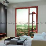 Окно Casement двойной застеклять алюминиевое (FT-W55)