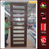 UPVC/PVCのWoodgrainによって薄板にされる開き窓のフレンチドア