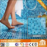 Mosaico di vetro di colore blu poco costoso di prezzi per la piscina (G423001)