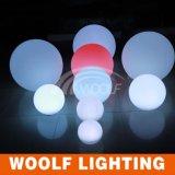 Sfera chiara a pile telecomandata della sfera decorativa LED di RGB ED