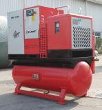 Compresseur d'air mû par courroie de vis avec le réservoir d'air