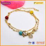 Armband van uitstekende kwaliteit van de Markering van het Embleem van de Juwelen van de Charmes van het Embleem van de Douane van het Metaal de Gouden voor Charme