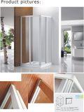 Deslizando o compartimento quadrado do chuveiro/cerco branco do chuveiro do frame (CVS047-W)