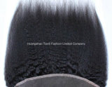 "Hairpieces 3.5*4 10 Hand-Made frontais do laço reto de Yaki "" - 22 "" porções livres"