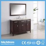 Пол американского типа чувствительный - установленная классицистическая установленная тщета ванной комнаты твердой древесины (BV160W)
