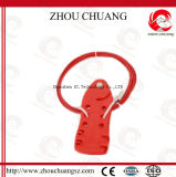 Justierbare Edelstahl-Kabel-Aussperrung verwendet mit Sicherheits-Vorhängeschloß