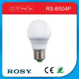 Indicatore luminoso di lampadina luminoso di plastica della porcellana LED di E27 3W