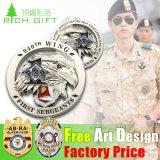 Customed Metal Antique Brass Plating Police Badge