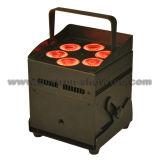 Luz conducida sin hilos 6X8w RGBW 4 in-1 de la batería