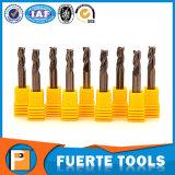 3 de fluit Gecementeerde Bit van de Molen van het Eind van het Carbide Ruwe voor Metaal