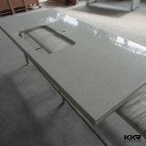 Parte superior de superfície contínua de pedra artificial do banco da cozinha de Kingkonree