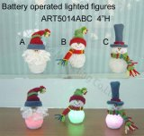 Diodo emissor de luz iluminado acima de Santa e de luz de Natal de Sowman, 3 Asst