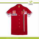 Рубашка экипажа ямы хлопка высокого качества Гуанчжоу Китая красная (ky-f003)