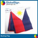 Hete Verkopende Bunting van de Polyester Vlaggen voor Gebeurtenissen