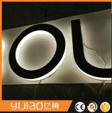 스테인리스 금속 편지 표시, LED 뒤 가벼운 표시