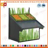 Vertikale Fach-Supermarkt-Frucht-Bildschirmanzeige-Zahnstangen-Vorrichtungen mit Spiegel Zhv46