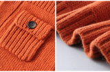 Boys를 위한 100%년 Lambswool Orange Children Coat
