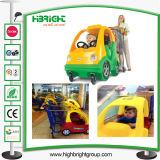 Тележка вагонетки покупкы для малышей с флагом