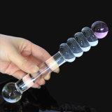 女性Injo-Dg072のための性のおもちゃのガラスDildo