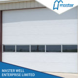 Steel poco costoso Rolling Open Style Industrial Door con Rectangle Windows