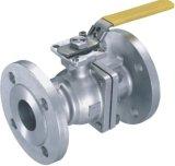 L'acciaio inossidabile serrato collega la valvola a sfera