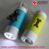 Erogatore del sacchetto dello spreco dell'animale domestico di figura dell'osso con l'indicatore luminoso del LED