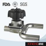 Klep van het Diafragma van het Type van roestvrij staal de Sanitaire Hand met Afvoerkanaal (jn-DV1002)