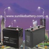 Bateria acidificada ao chumbo recarregável 6V100ah para a luz de rua solar