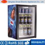Mini réfrigérateur en verre portatif d'étalage de bière de porte