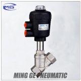 Válvula de sede de ângulo (série 2J DN40 com atuador de cabeça de plástico)