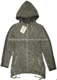 Пальто/куртка весны женщины/застежки -молнии осени с капюшоном