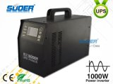 Suoer UPS Power Inverter 1000W onda sinusoidale pura Power Inverter per uso domestico con lo schermo digitale (HPA-1000CT Nero)