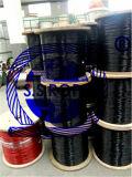 Покрынные PVC веревочки провода нержавеющей стали & нейлон