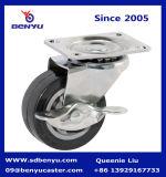 1.5 Zoll-Feuergebührenschwenker-Fußrolle mit Bremse
