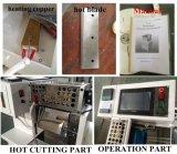 Velcro, venda, tubo, funda, película, cortadora automática de la tira de la escritura de la etiqueta