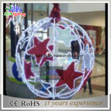 esfera decorativa do Natal de 50cm com luzes do floco de neve