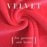 Llanura de 80% algodón 20% poliéster tejido de terciopelo de Vestuario y Textiles para el hogar (Opciones de color múltiples)