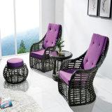 Anodisiertes Aluminiumrahmen PET Rattan-Patio-im Freienmöbel-Doppelt-Sofa von der Foshan-Fabrik