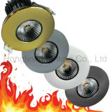 IP65 Waterproof 10W COB DEL Fire Rated Downlight avec l'encadrement Changeable