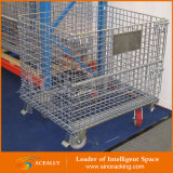 Speicherstapelbarer Stahlmaschendraht-Ladeplatten-Rahmen-Ineinander greifen-Behälter